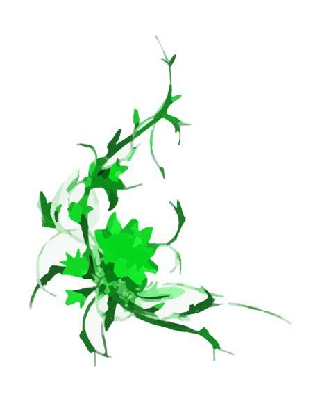 green floral design clip art  clkercom vector clip