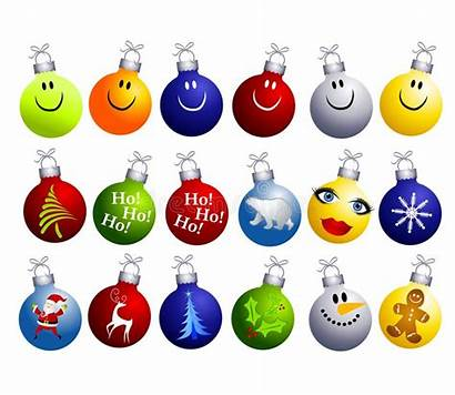 Christmas Clip Ornaments Assorted Clipart Tree Illustration