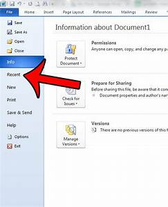 how to delete a single recent document in word 2010 With recent documents word delete