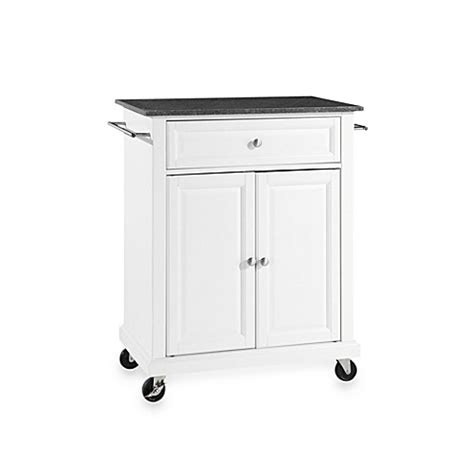 white rolling kitchen island buy crosley black granite top rolling portable kitchen 1455