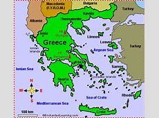 Map of Greece EnchantedLearningcom