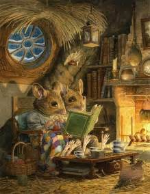 pagewoman fireside  chris dunn fairytale art art