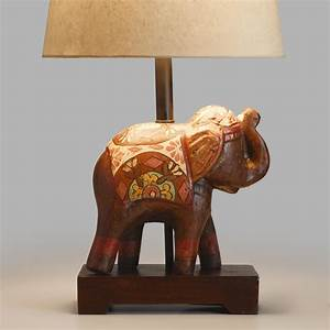 Indian elephant accent lamp base world market for Floor lamp stand online india