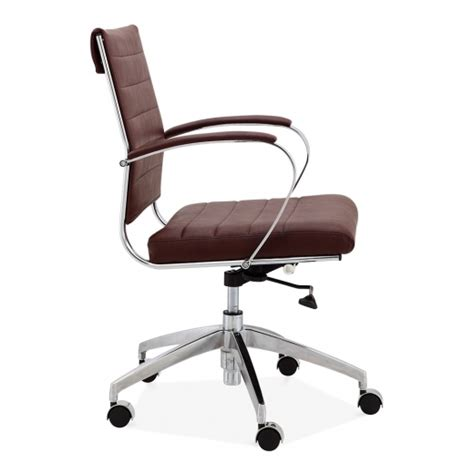 classic eames style office executive chair brown