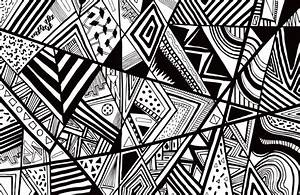 Abstract art drawing in black and white ~ Creative Art and ...