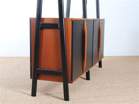 mid century modern scandinavian shelving bookcase system
