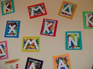 1000 images about prenoms activites on pinterest petite With letter art ideas