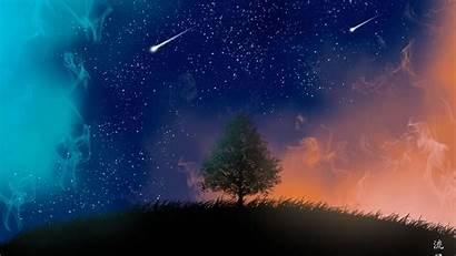4k Stars Shooting Tree Wallpapers 1080p Laptop
