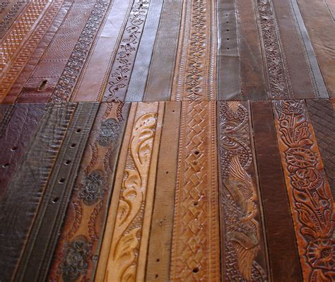 recycled leather tiles flooring the hobo tect