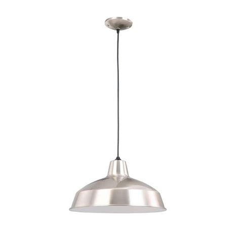 hton bay 1 light brushed nickel warehouse pendant af