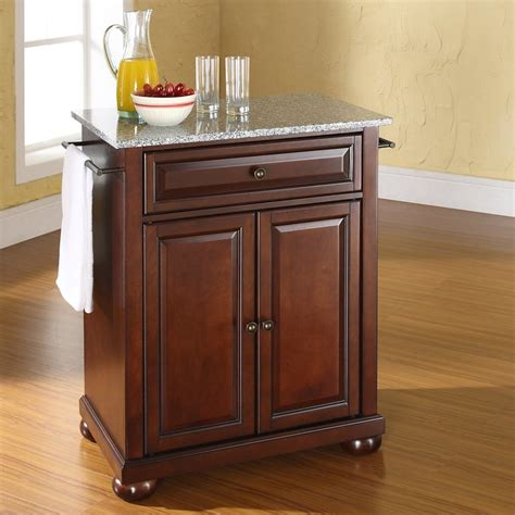 kitchen islands lowes crosley furniture brown craftsman kitchen island at lowes