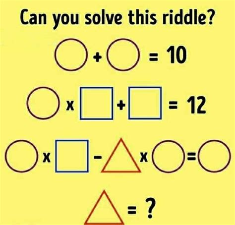 Can You Solve The Riddle Math Riddles Riddles Math