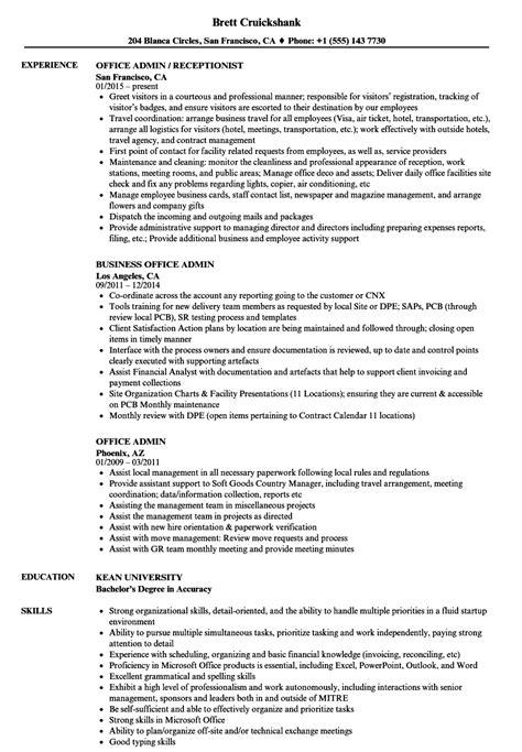 Admin Resume by Office Admin Resume Sles Velvet