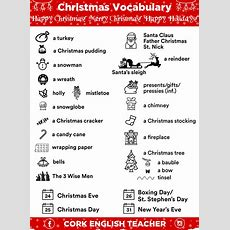 Christmas Vocabulary Words In Picture  Myenglishteachereu Blog