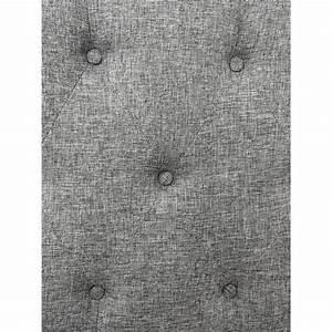 Tete De Lit Capitonnée Gris : t te de lit capitonn e orphea 140cm tissu gris achat vente tete de lit pas cher couleur et ~ Teatrodelosmanantiales.com Idées de Décoration