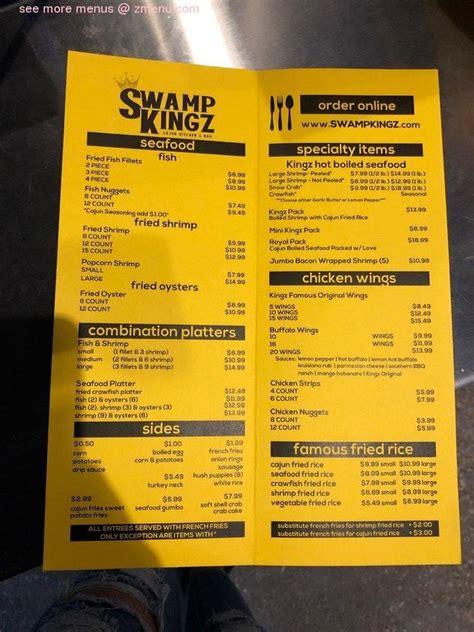 menu  swamp kingz restaurant houston texas