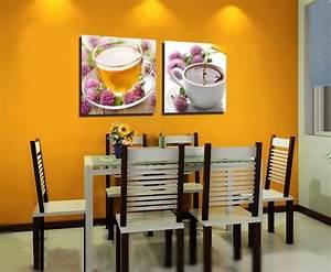 peinture salle a manger 77 idees charmantes With salle À manger contemporaine avec deco murale nordique