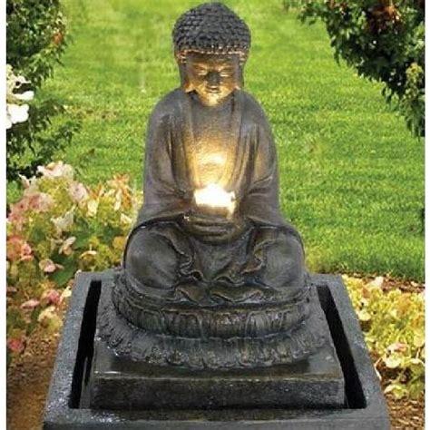 Bouddha De Jardin Solaire by Fontaine Bouddha Illumination Achat Vente Fontaine De