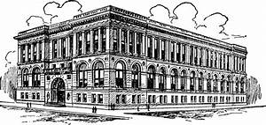 Library Building Clipart Black And White - ClipartXtras