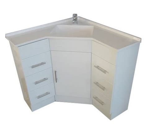 corner sink and vanity a corner vanity sink for a small bathroom but tons of
