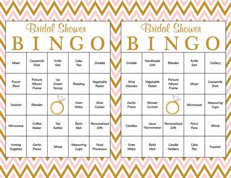 60 Bridal Bingo Cards Blank & 60 Prefilled Cards Printable