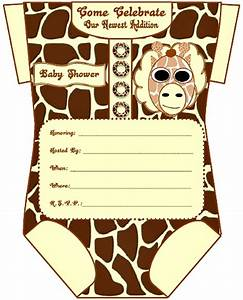 baby shower invitations giraffe theme theruntimecom With giraffe baby shower invitations template