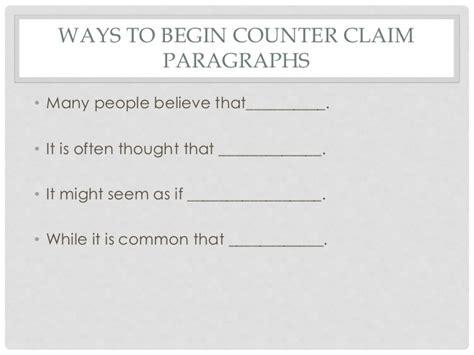 Teaching Counter Claim