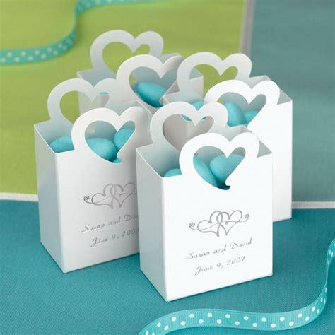 mini tote wedding favor box  heart handle