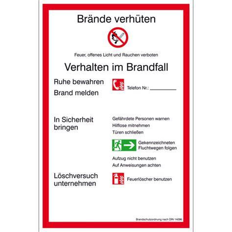 aushang brandschutz brandschutzordnung teil  guenstig