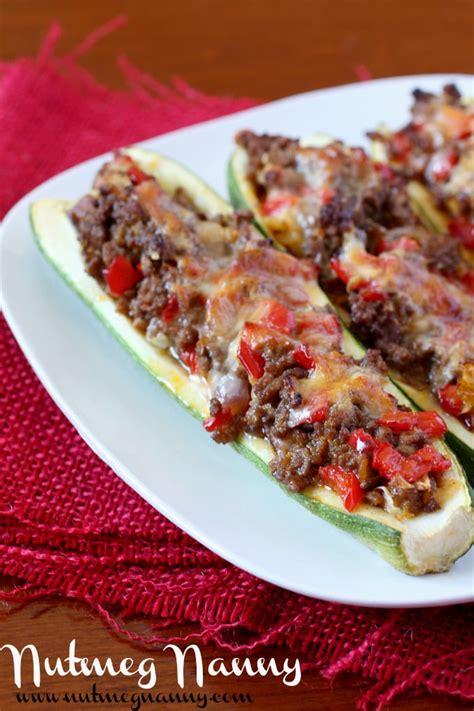 Italian Stuffed Zucchini Boats With Ground Beef Tomatoes Mozzarella by Zucchini Boats Ground Beef