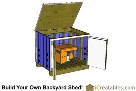 generator enclosure plans  generator shed plans