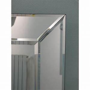 Miroir Mural Design Grande Taille : miroirs meubles et rangements avatar miroir mural rectangulaire en verre biseaut taille ~ Teatrodelosmanantiales.com Idées de Décoration