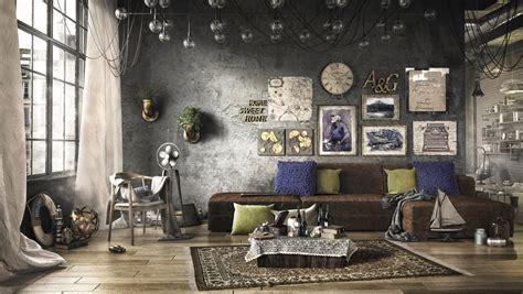 wohnzimmer industrial living room dusseldorf by loft living room design with modern industrial style