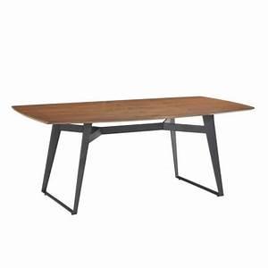 Table Contemporaine Bois Et Metal : table manger contemporaine et vintage mael en bois et m tal 200cmx90cmx77 5cm noyer noir ~ Teatrodelosmanantiales.com Idées de Décoration