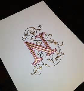 Calligraphy Illuminated Letters O