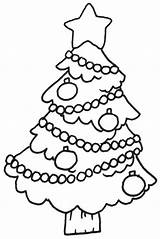Coloring Tree Christmas Pages Printable Sheet Colouring Template Holiday Chirstmas Outline sketch template