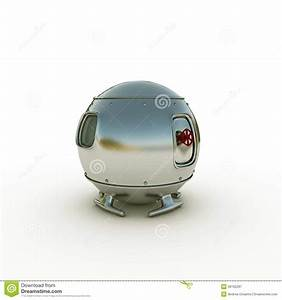 Space capsule stock illustration. Image of rocket ...
