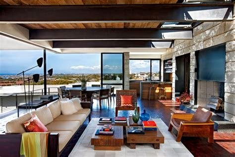 Modern And Warm Open Air Great Room Interior Design Of The