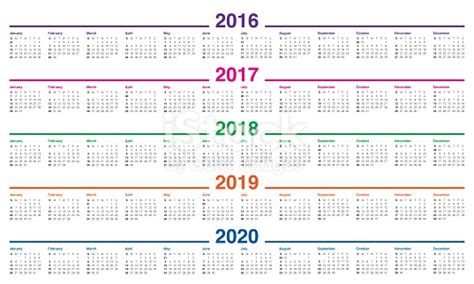 Calendar 2016 2017 2018 2019 2020 Stock Photo & More