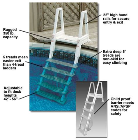 Above Ground Pool Ladder For Deck by Steps Above Ground Pool Accessories