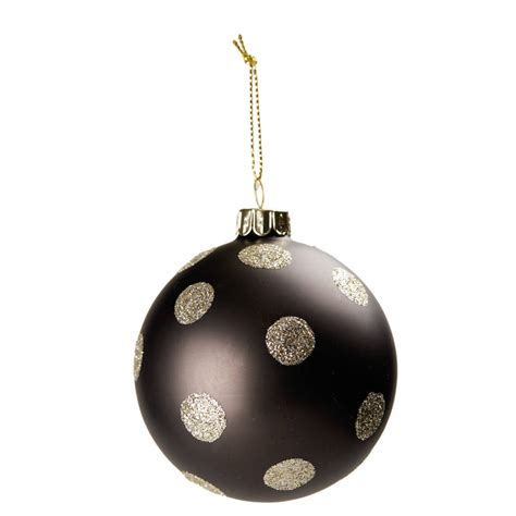 black christmas bauble by the christmas home