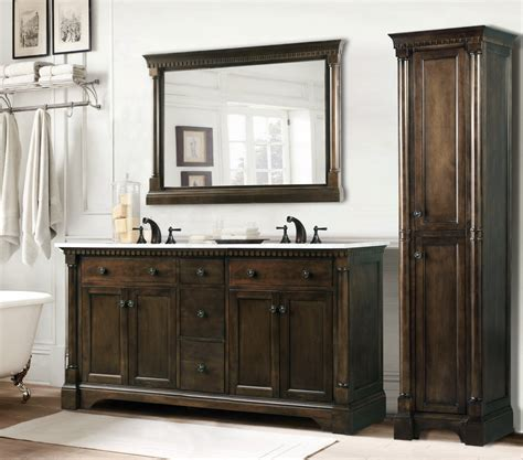 double sink bathroom vanity  tower creative bathroom