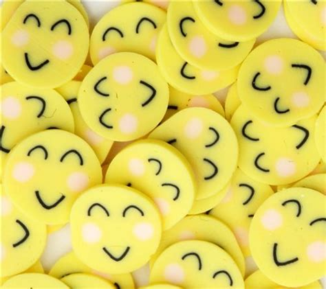 suesse kawaii happy smiley ton scheiben diy  stueck