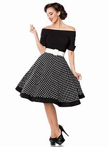 Tenue Des Années 50 : robe rockabilly pin up retro ann es 50 belsira black white dots ~ Nature-et-papiers.com Idées de Décoration
