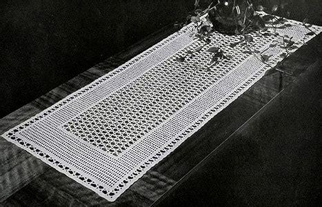 crochet table runner patterns guide patterns