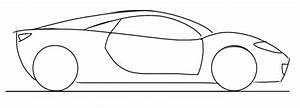 Car Drawing Tutorial for kids: Sports Car Side View ...