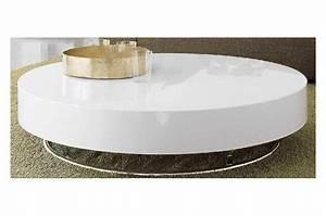 Table Basse Ronde Blanc Laqué : table basse ronde blanc laque ~ Teatrodelosmanantiales.com Idées de Décoration