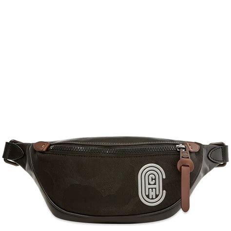 coach retro rivington belt bag black