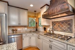 kitchen range ideas looking copper range hoods mode chicago traditional kitchen innovative designs with beige