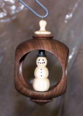 turning alternative christmas ornament